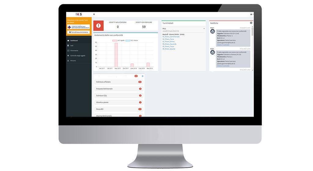 schermate software phos sicurezza